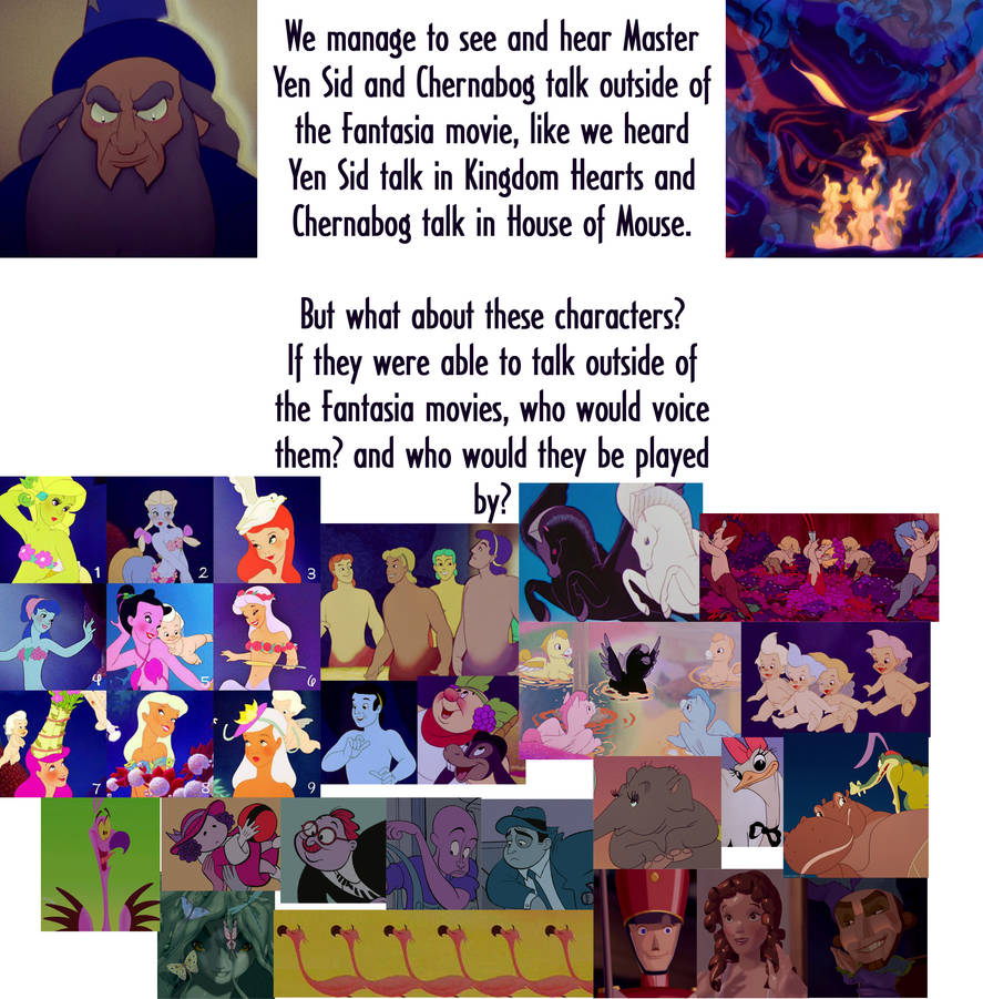 Who could voice the Fantasia characters