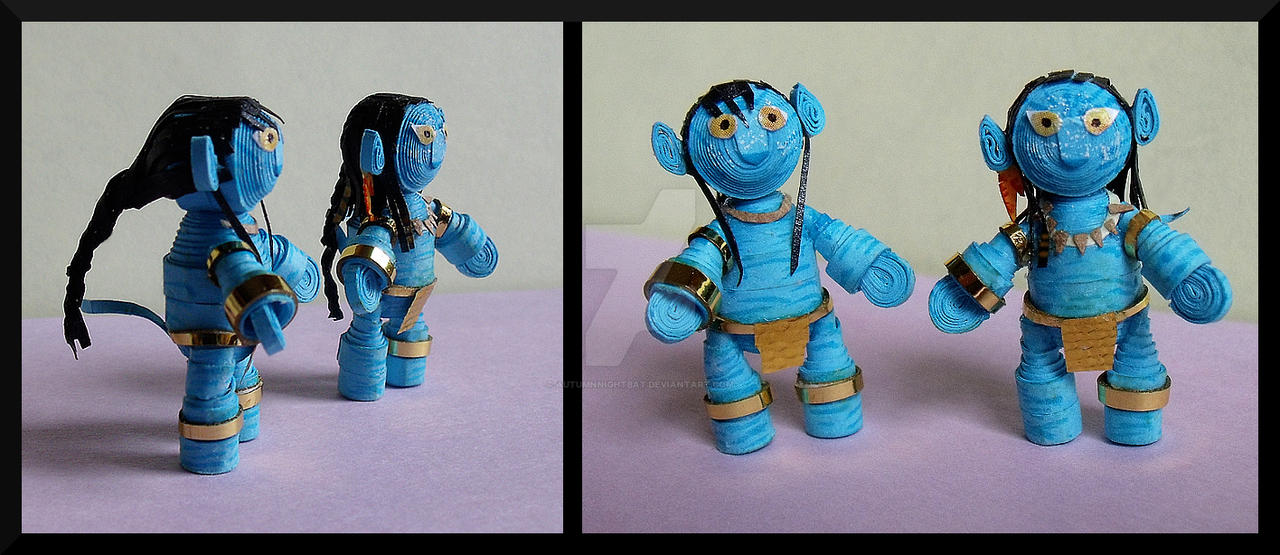 Paper Jake and Neytiri by AutumnNightBat