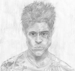 Brad Pitt as Tyler Durden by Elriel
