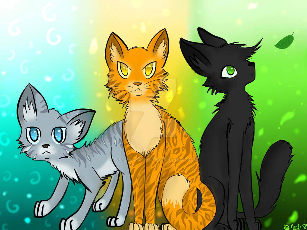 The power of three warrior cats by purplenightthekitty on The three cats