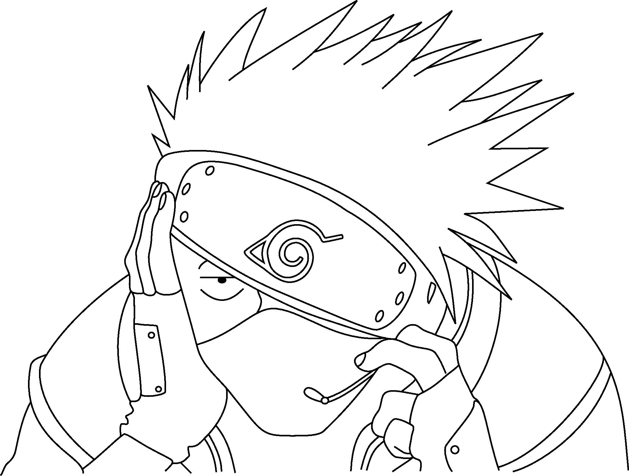 Kakashi Lineart : Kakashi lineart by prinzessinvegeta on deviantart