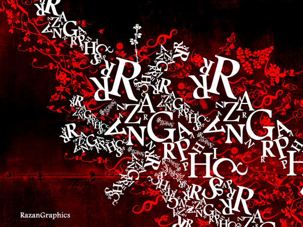 typography razangraphics1 by razangraphics