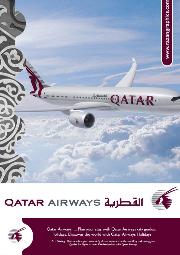 qatar_airways_ad_by_razangraphics.jpg (595×842) | Airlines ...