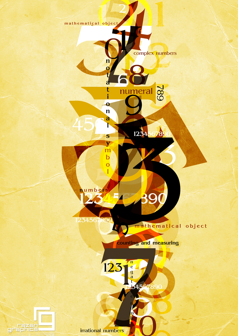 numbers by razangraphics