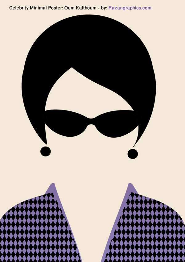 Celebrity Minimal Poster: Oum Kalthoum - by: Razan by razangraphics