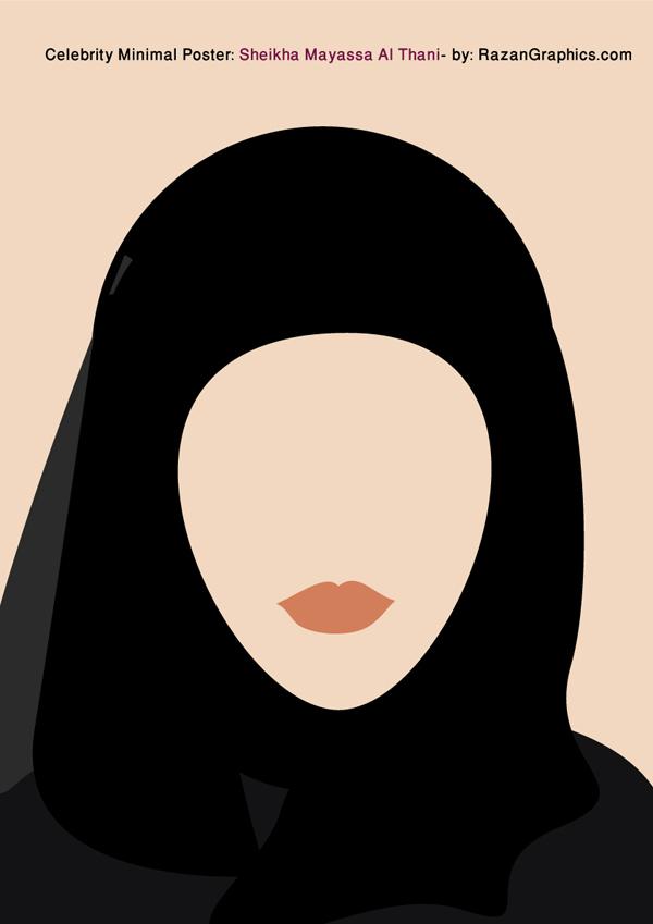 Celebrity Minimal Poster: Sheikha Mayassa Al Thani by razangraphics