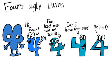 BFB Four's ugly twins by PinkiesClone
