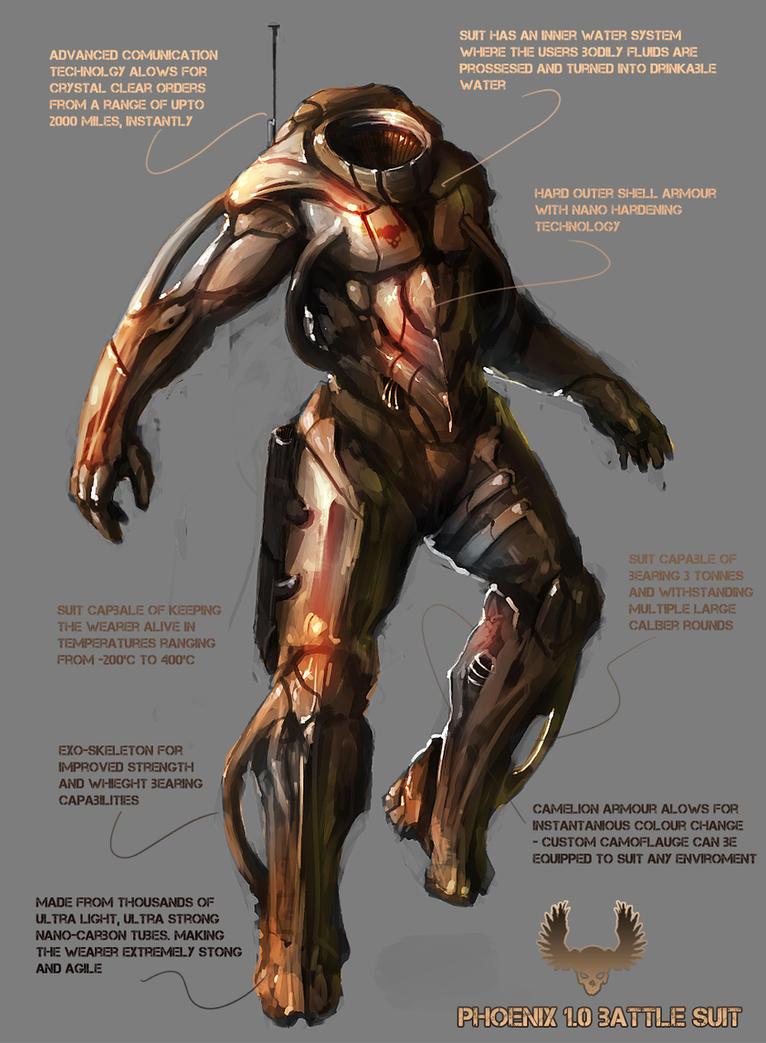 Phoenix Battle Suit by TomEdwardsConcepts