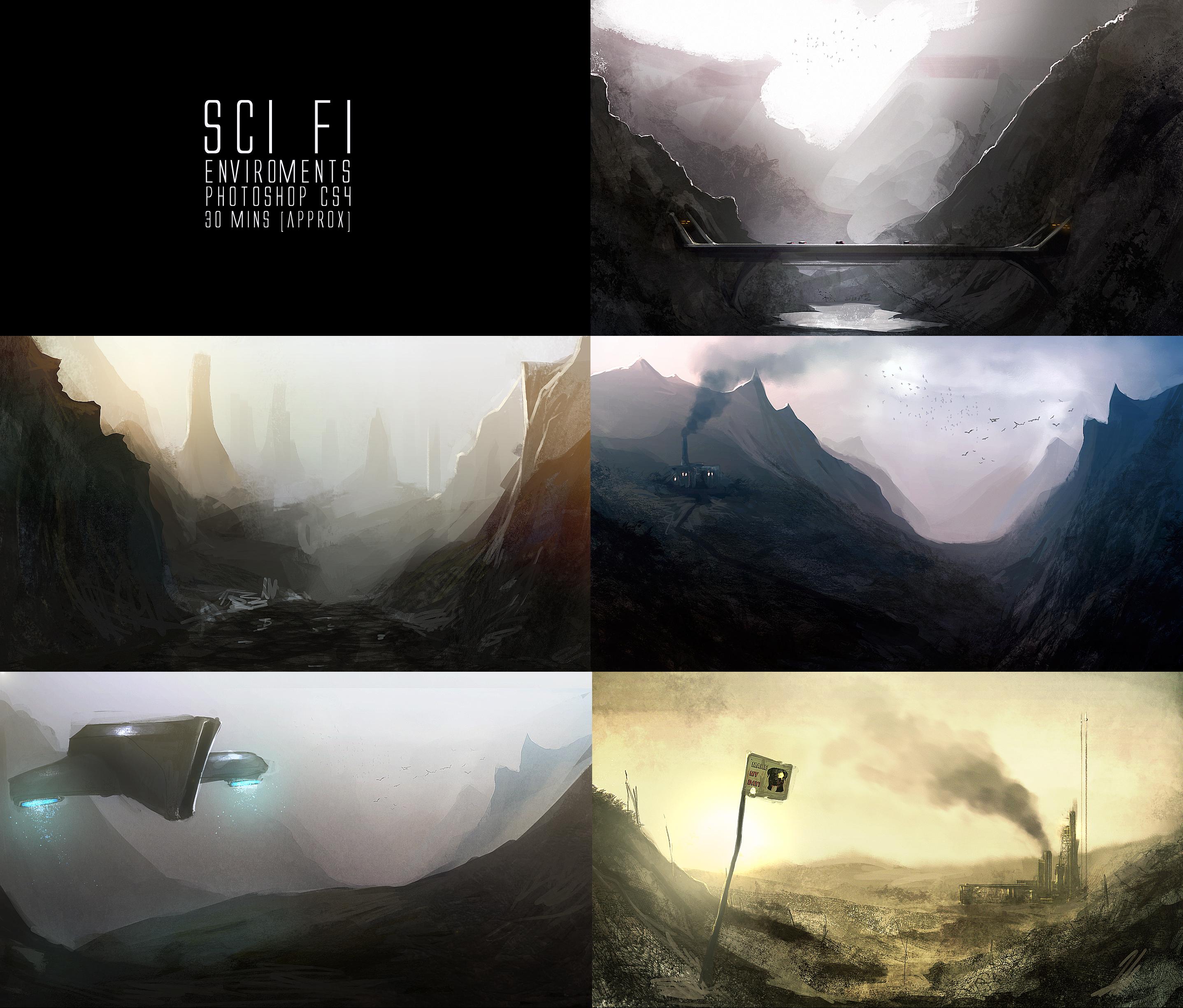 Sci Fi Landscapes by TomEdwardsConcepts
