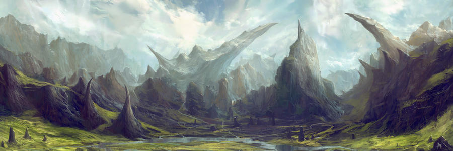 Dragon Tooth Valley by TomEdwardsConcepts