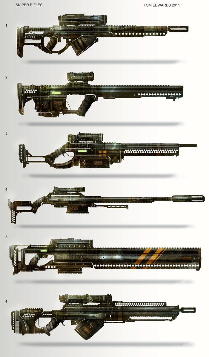 Sniper Rifles by TomEdwardsConcepts