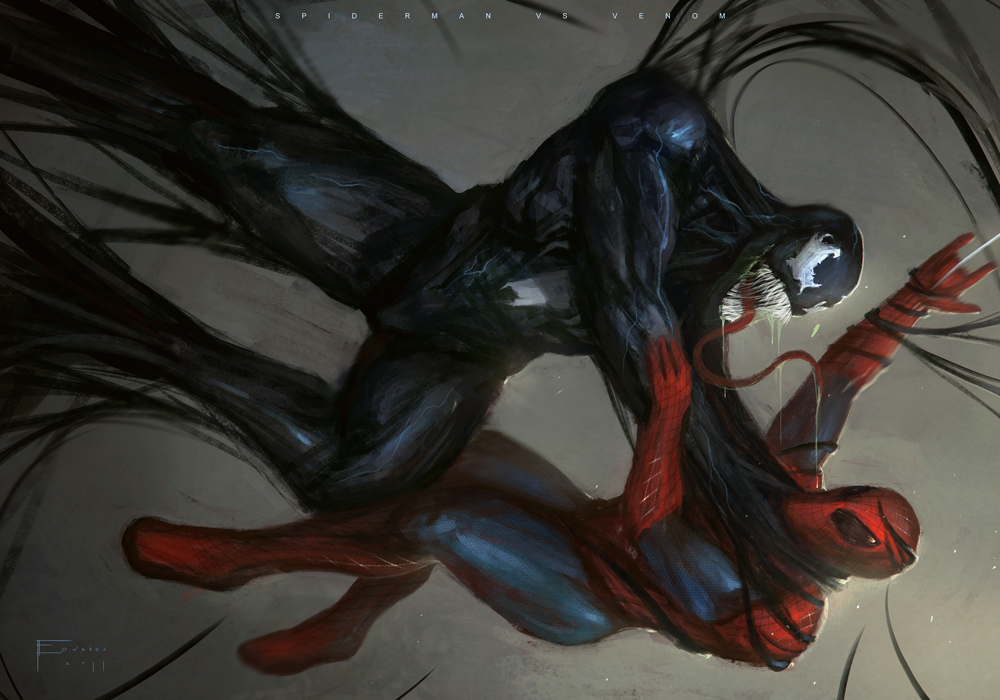 Spiderman Vs Venom by TomEdwardsConcepts