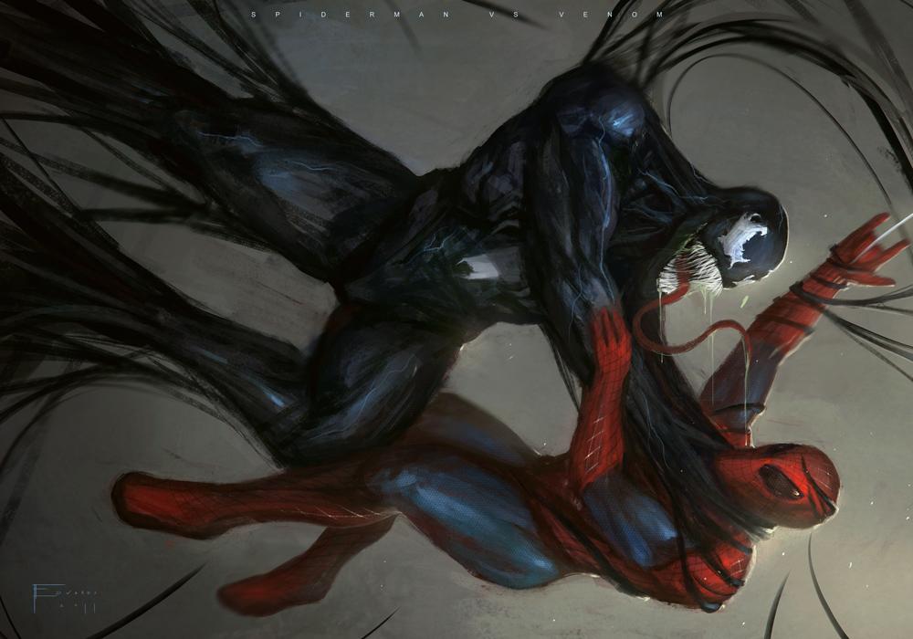 Spiderman Vs Venom by TomEdwardsConcepts