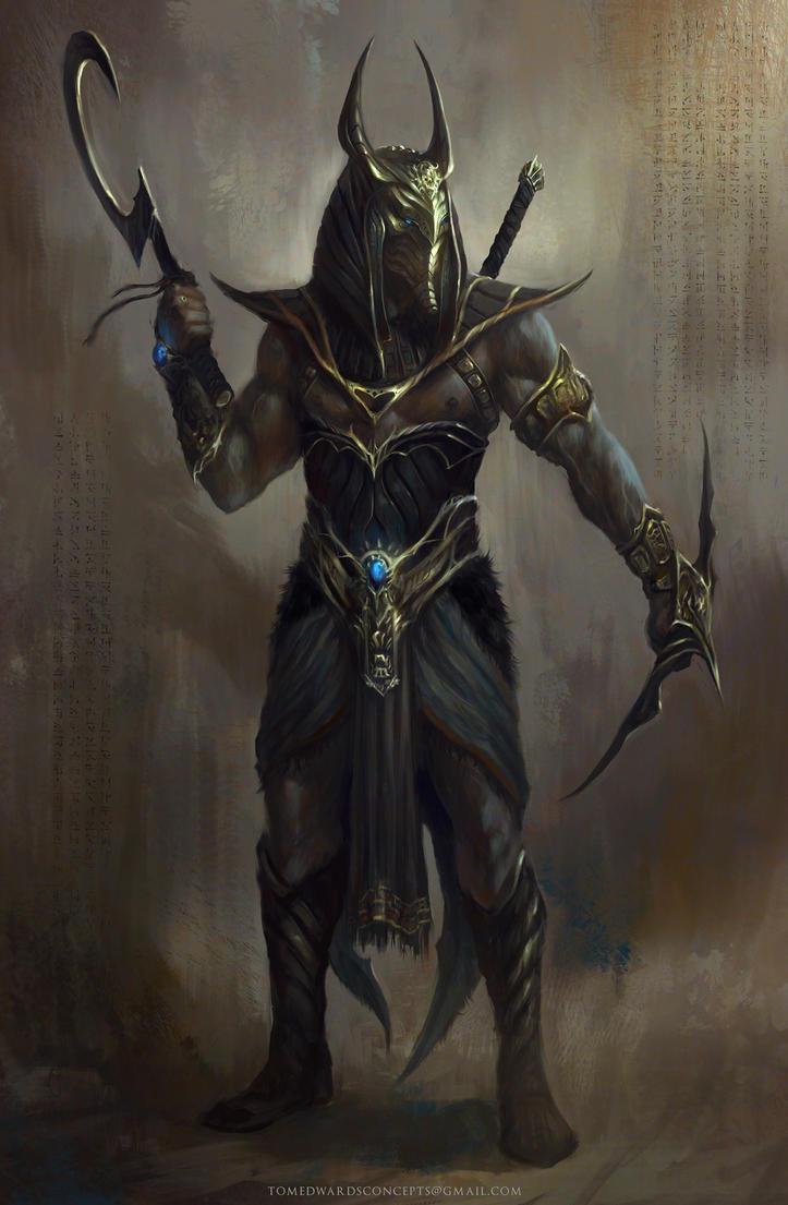 Anubis Batman by TomEdwardsConcepts
