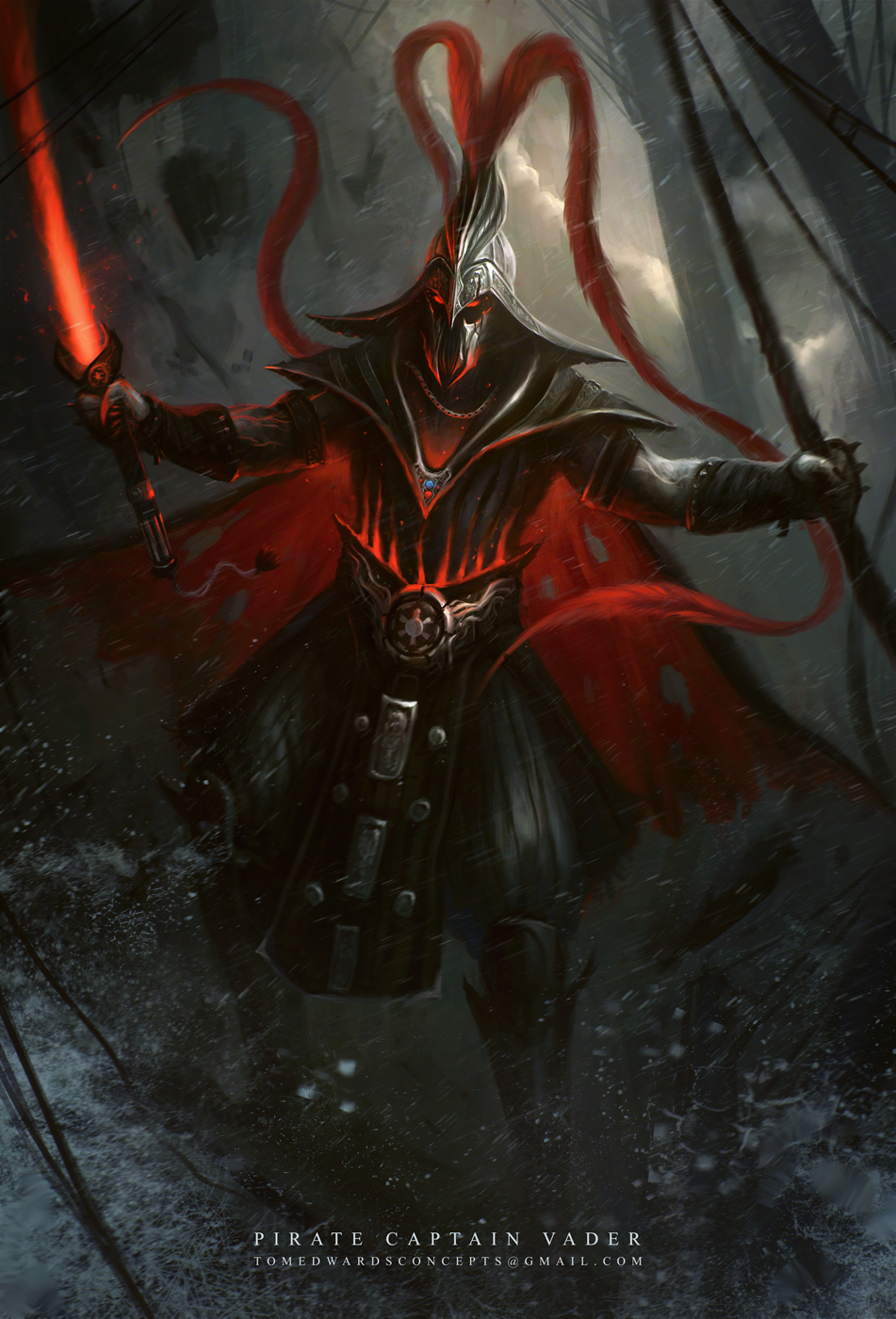 Pirate Lord Vader by TomEdwardsConcepts