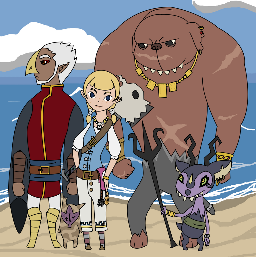 Aryll's Crew by LikeFireNeedsAir