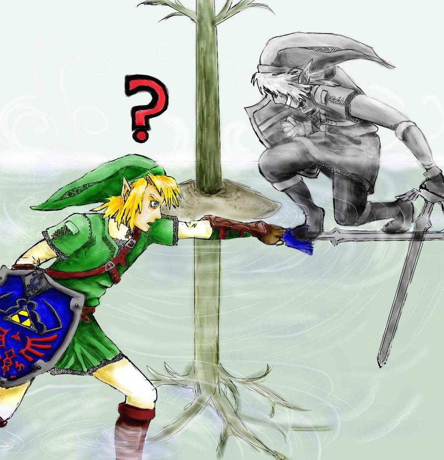 Legend Of Zelda Dark Link Vs Link Link vs. Dark Link by ...