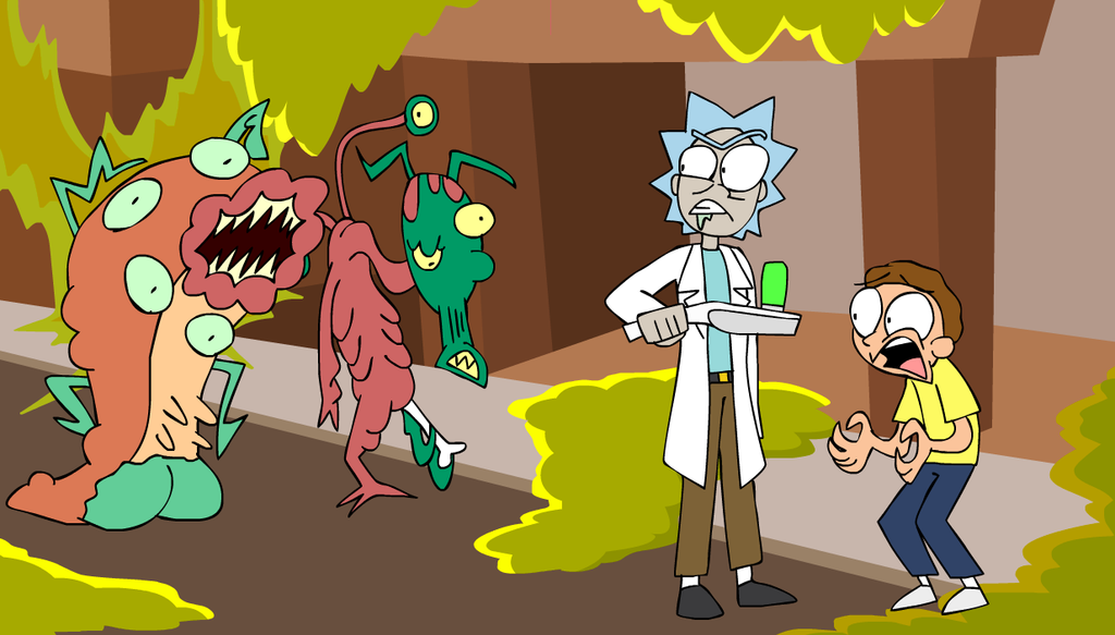 birthday live stream rick and morty animation by animatedjames on