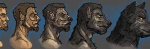 Werewolf transformation by Andy-Butnariu