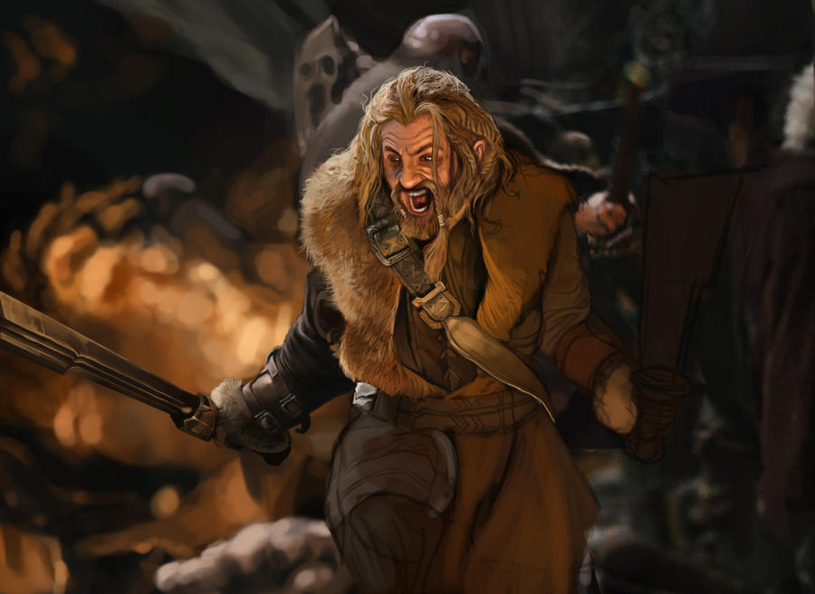 Fili from The Hobbit study