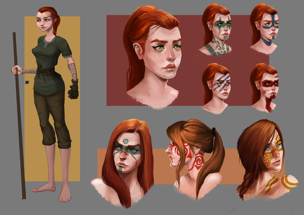 Viking Female concept sheet