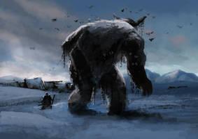 Ice troll _ spitpaint by Andy-Butnariu