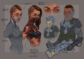 Character concept 1. Rebel Leader by Andy-Butnariu
