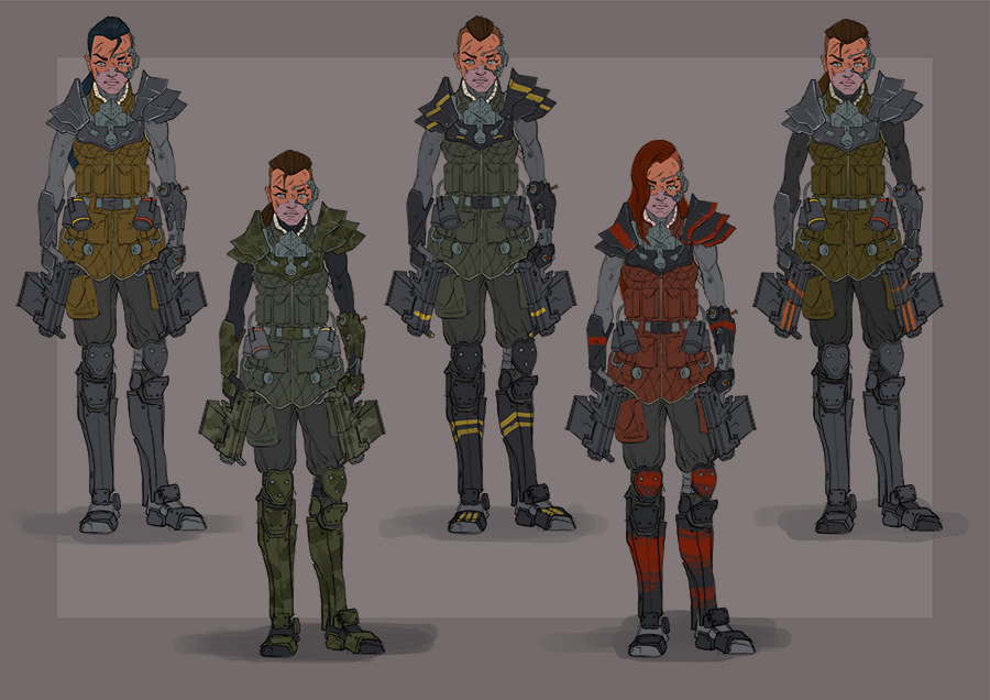 Character concept 3. Rebel Leader