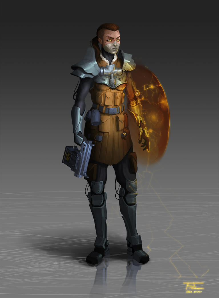 Character concept 4. Rebel Leader FINAL concept
