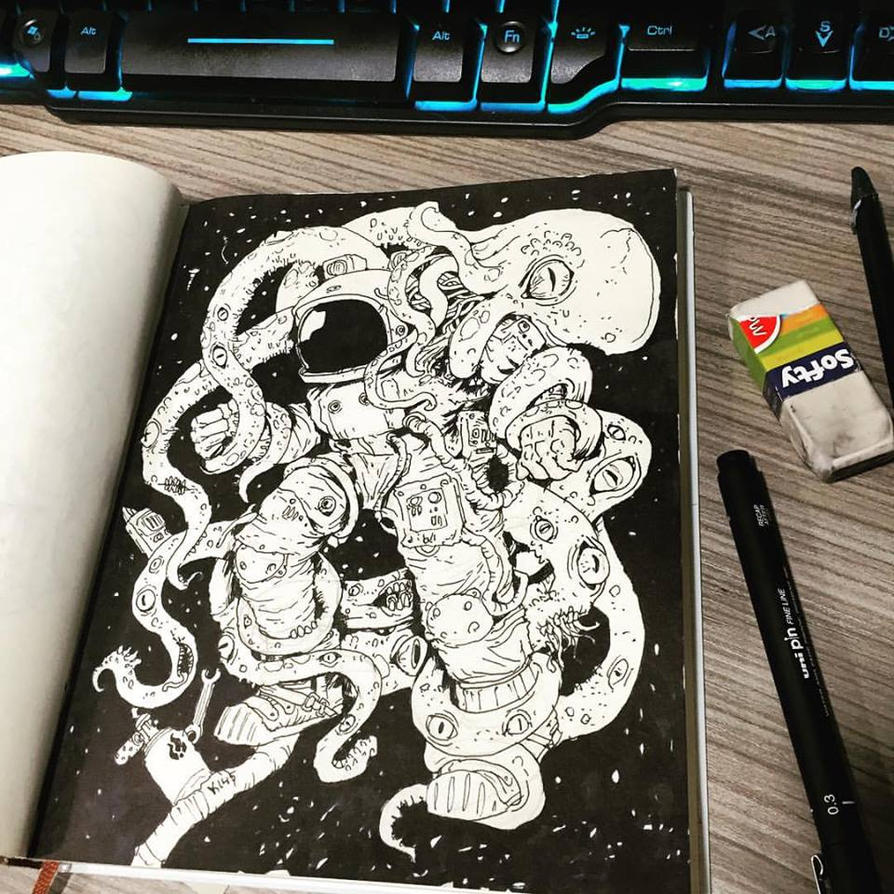 Inktober 2016 #1 by Andy-Butnariu
