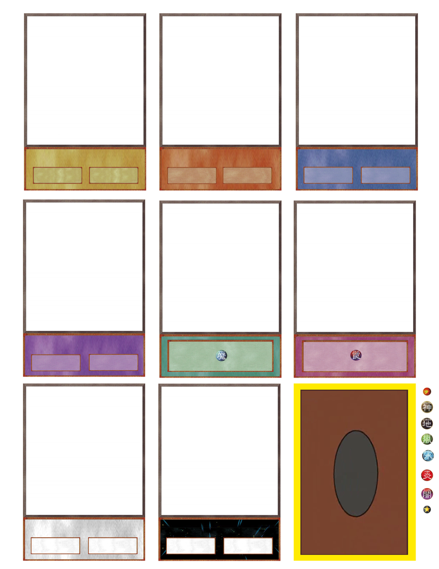 Ygo card maker updated again xyz by hoshikan on deviantart for Card game template maker