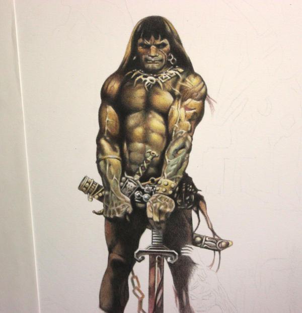 Frazetta's Conan WIP