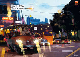 driving in the night by Batawp