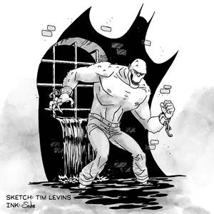 Inktober 2021: inking over Tim Levins