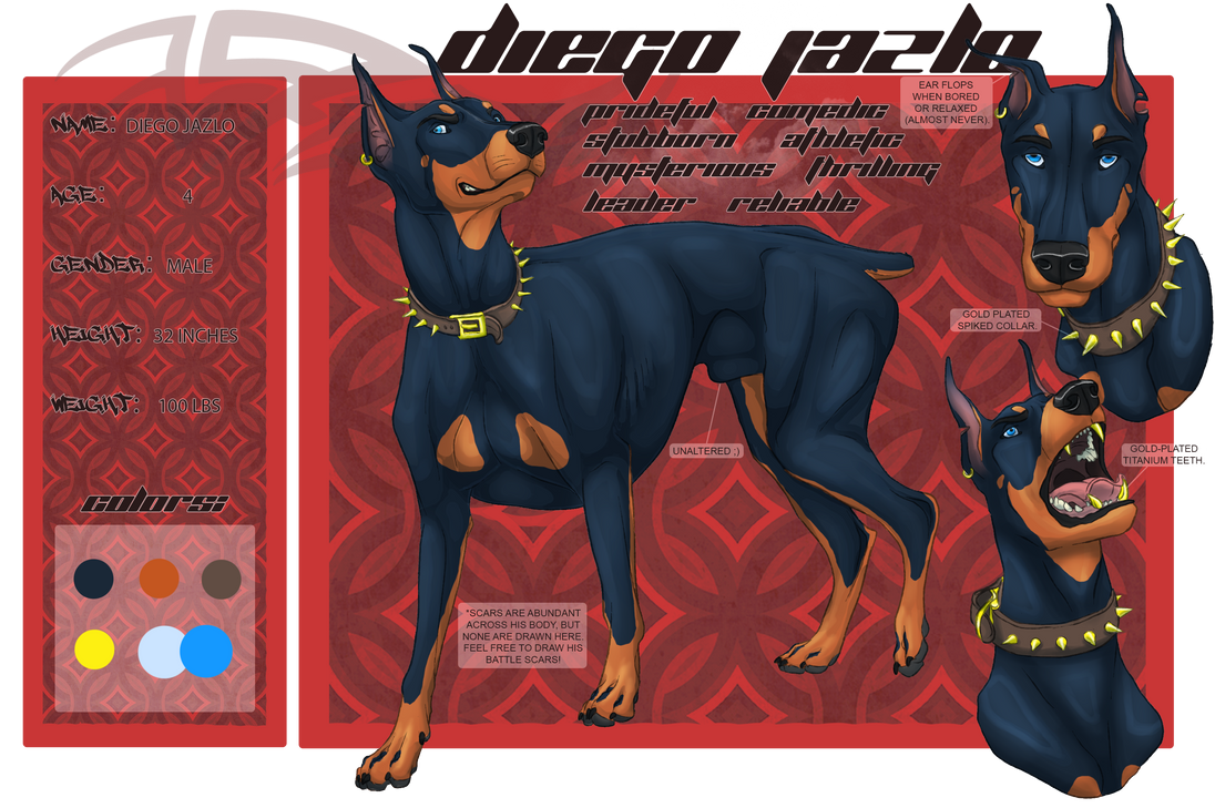 Diego Jazlo Reference (OC) By SilverOkami666 On DeviantArt
