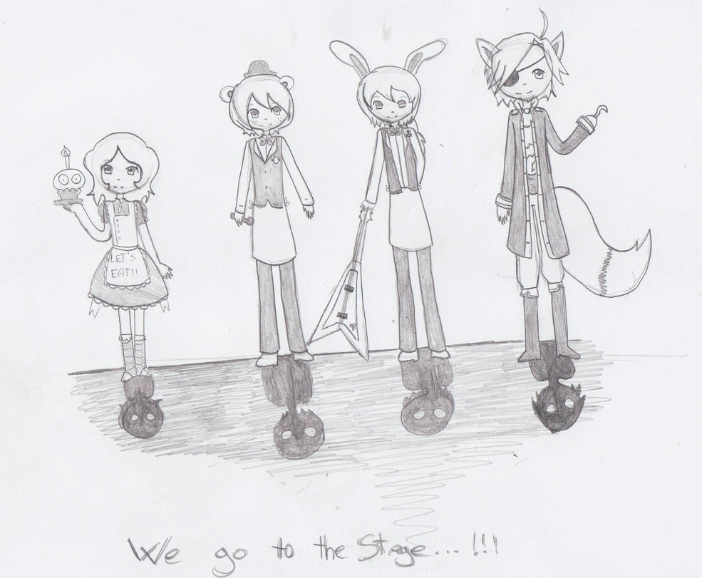 .:Five Nights at Freddy's - We go to the stage!:. by JuLyGoOd