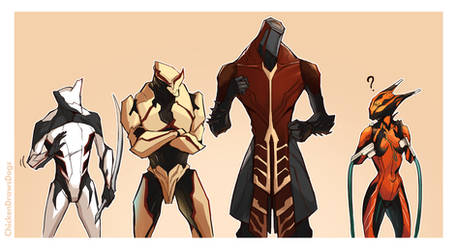 WARFRAME - Frames for Melee Nuts by ChickenDrawsDogs