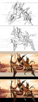WARFRAME - More Than Wrath (Process) by ChickenDrawsDogs