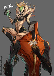 WARFRAME - Lady of Thorns, Lord of Stone WIP by ChickenDrawsDogs