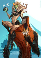 WARFRAME - Lady of Thorns, Lord of Stone by ChickenDrawsDogs