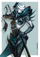 WARFRAME - Her Majesty by ChickenDrawsDogs