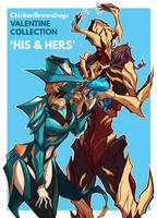 WARFRAME - His and Hers by ChickenDrawsDogs