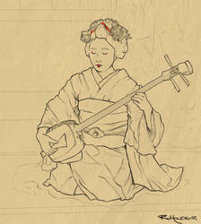 Maiko in Progress by Fayea