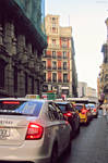 The streets of Madrid.