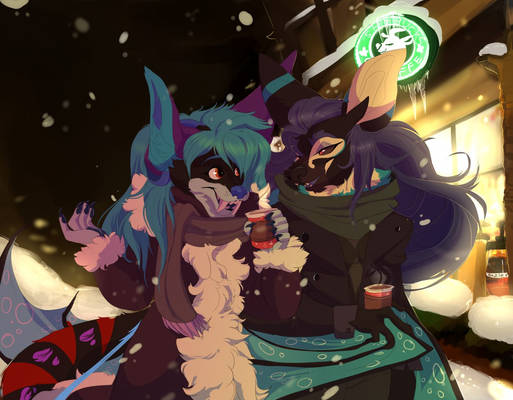 Holiday Stroll - Art by Badphomet