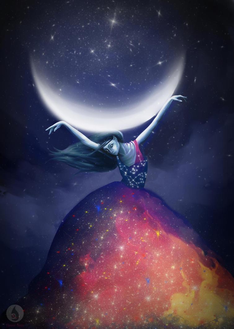 moon by Hikariuselen
