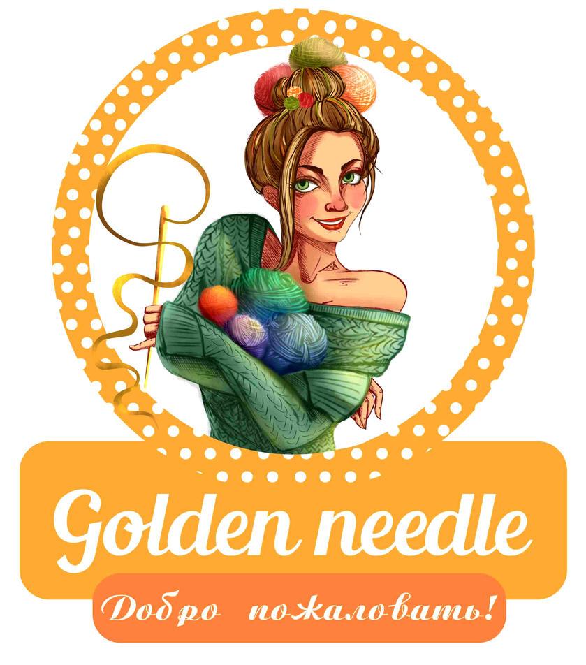 golden needle - logo design by Hikariuselen