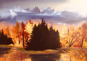 Golden Fall by Sabretooth2611
