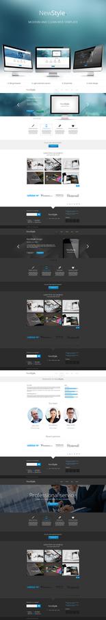 New Style modern web template