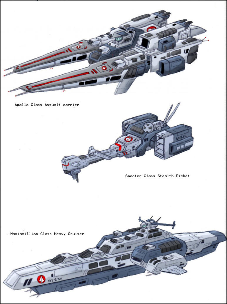 Mobius Chronicle: ship designs by zeiram0034